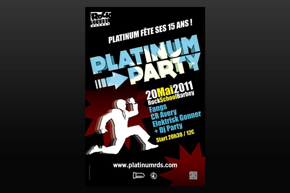 Affiche Platinium Party